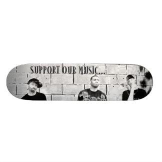 STÖTTA VÅR MUSIKSkateboard Mini Skateboard Bräda 18,5 Cm