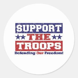 Stötta våra soldater runt klistermärke