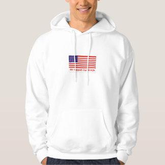 stötta våra soldater sweatshirt