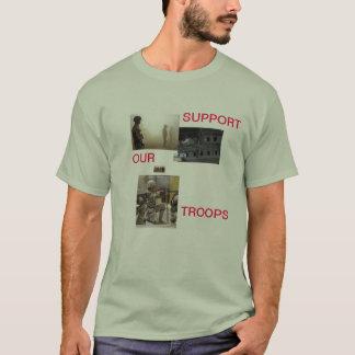 stötta våra soldater t-shirts