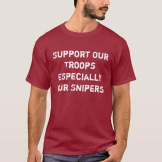 Stötta våra soldater tee shirt