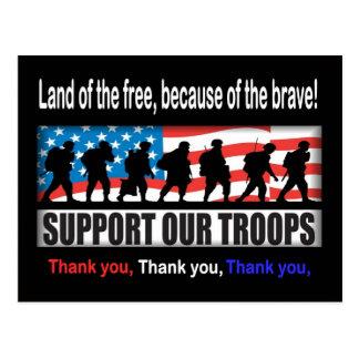 Stötta våra soldater vykort