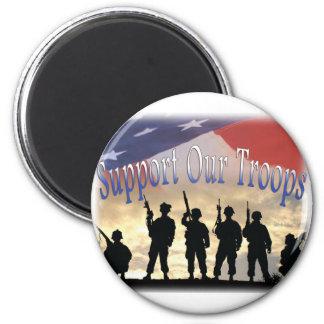 Stötta våra soldatsoldater magnet