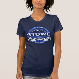 Stowe logotypblått t shirts