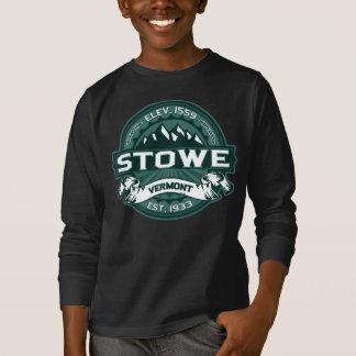 Stowe logotypVermont grön mörk T-shirt