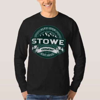 Stowe logotypVermont grön mörk Tee