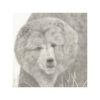 Sträckt kanvastryck för Grizzly björn