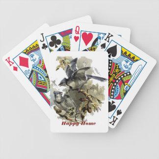 Stråle för lycklighemblått spelkort