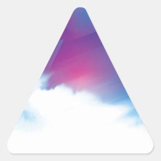 Strålpunktblått Triangelformat Klistermärke