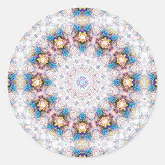 Strålpunkten cirklar klistermärkear (rundan) runt klistermärke