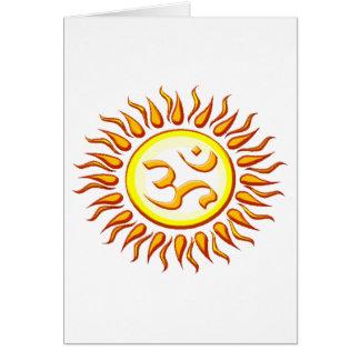StrålpunktOm-sol Hälsningskort