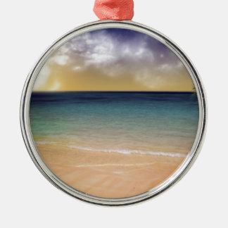 Strand av drömmar julgransprydnad metall