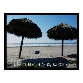 Strand för CA Rosarito, Rosarito strand, Mexico II Vykort
