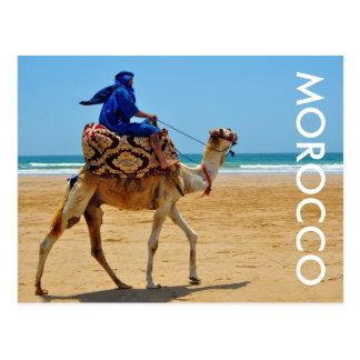 strand för sjösida för morocco arabisk rittkamel vykort