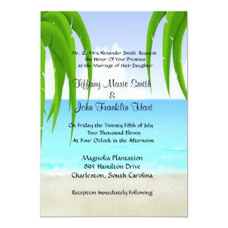 Strand-/havbröllopinbjudningar Tillkännagivanden