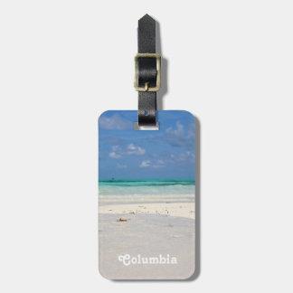 Strand i Colombia Bagagebricka