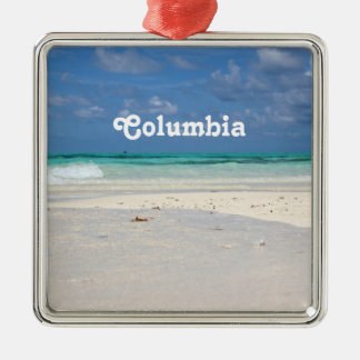 Strand i Colombia Julgransprydnad Metall