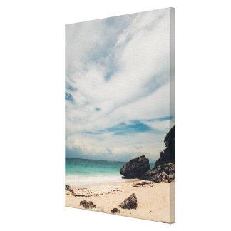 Strand i Tulum, Mexico Canvastryck