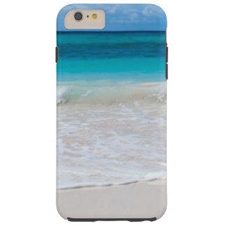 Strand och hav för vit tropisk tough iPhone 6 plus fodral