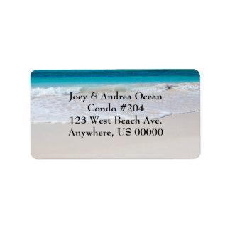 Strand- och havanpassningsbaradressetiketter adressetikett