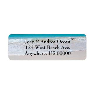 Strand- och havanpassningsbarreturetiketter returadress etikett