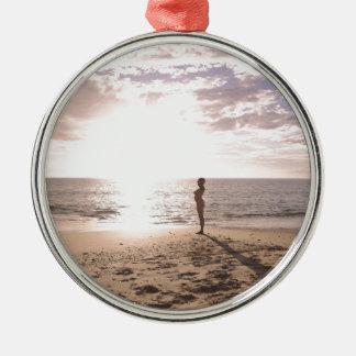 Strand och liv julgransprydnad metall