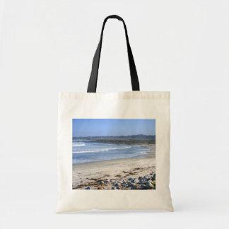 Strand på drevet tote bags