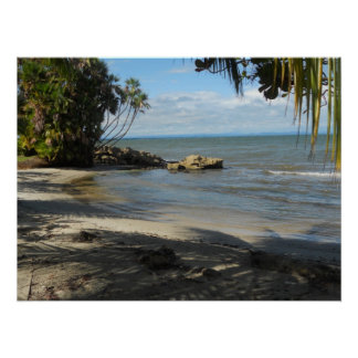 Strand på Playa Blanca, Livingston, Guatemala Poster
