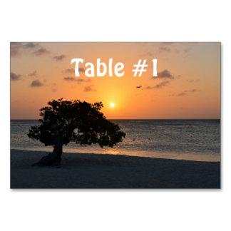 Strand på solnedgången bordsnummer