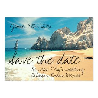 Strand som gifta sig Cabo San Lucas, Mexico spara 11,4 X 15,9 Cm Inbjudningskort