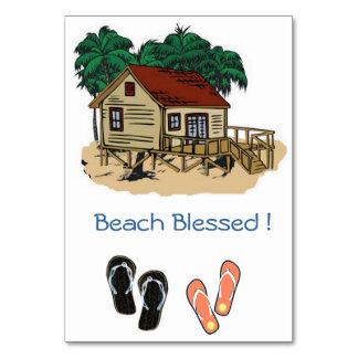 Strand välsignad inbjudan bordsnummer