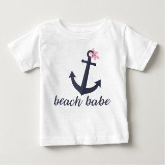 StrandBabe - flicka skjorta. Ankra. Nautical. T-shirt