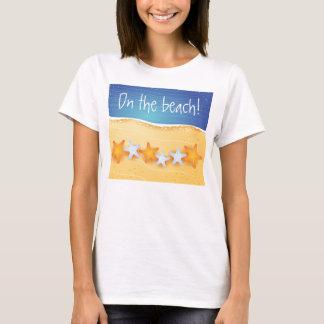 Strandbakgrund, skjorta t-shirts