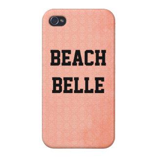 StrandBelle: För Grungetryck för korall rosa iPhone 4 Hud