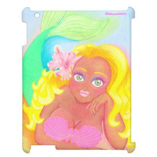 Strandblondinsjöjungfru iPad Mobil Fodral