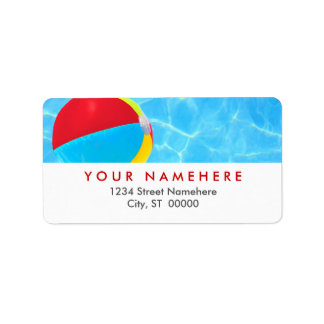 Strandbolletiketter Adressetikett