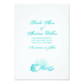 Strandbröllop spara datum 12,7 x 17,8 cm inbjudningskort