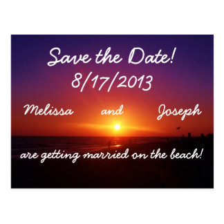 Strandbröllop spara datum vykort