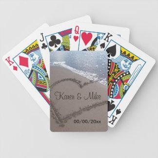 Strandbröllop Spelkort