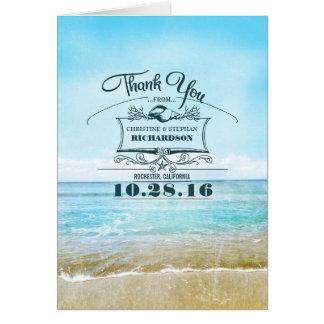 Strandbröllop tackar dig kort