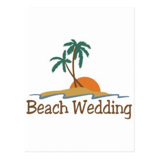 Strandbröllop Vykort