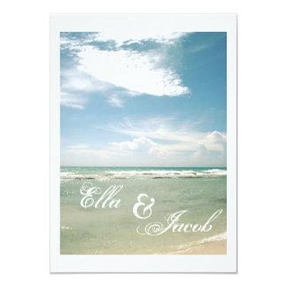Strandbröllopinbjudan 11,4 X 15,9 Cm Inbjudningskort