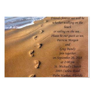 strandbröllopinbjudan 12,7 x 17,8 cm inbjudningskort