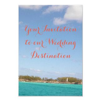 Strandbröllopinbjudan 8,9 X 12,7 Cm Inbjudningskort