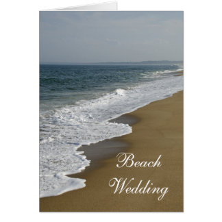 Strandbröllopinbjudan Hälsningskort