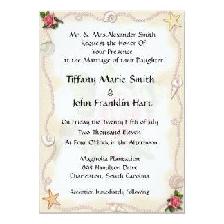 Strandbröllopinbjudningar Skräddarsydda Inbjudan