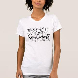 Stranden är min Soulmatekvinna T-tröja T Shirts