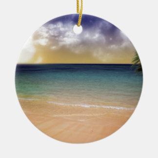 Stranden av drömmar julgransprydnad keramik