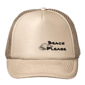 Stranden behar hatten keps