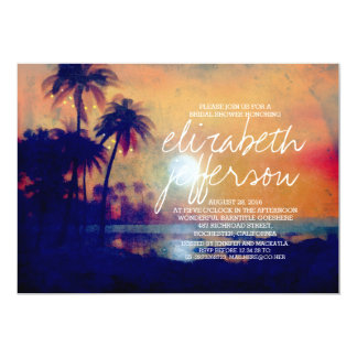 Stranden gömma i handflatan ljusinbjudningskort 12,7 x 17,8 cm inbjudningskort